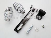 """Black Solo Seat Mount Kit Bracket w/ 3"""" Barrel Spring for Harley Softail Custom Chopper Bobber"""