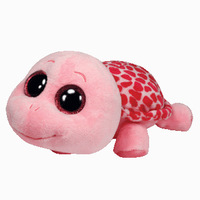 Free shipping cute TY Big Eye Stuffed Animal pink Turtle plush toy 15cm soft toy for children