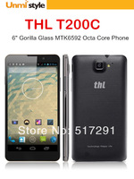 Sale New 2014 THL T200c 6 Inch Gorilla Glass NFC OTG MTK6592 Octa Core Phone RAM 2GB ROM 16GB Android 4.2 13MP Dual SIM 3G Phone