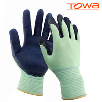 (12 pairs / lot ) luvas natural rubber coating gloves slip resistant wear resistant protective