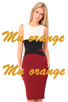 Womens Celebrity Midi Bodycon Ladies Red Pencil Evening Slimming Panel Tea Dress B40 NZ026
