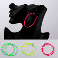 Hoop earrings big hoop earrings neon color earrings big earrings fashion vintage female