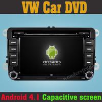 2014 100% Pure Android 4.1 PC Car DVD GPS For VW Jetta Tiguan Golf Bora Passat B5 B6 Armarok EOS caddy  Seat  Capacitive Screen
