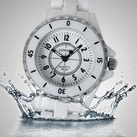 Luxury Women Ladies Waterproof Sports White Ceramic Wrist Quartz Watch,100% Top quality Ceramic wristwatches+free shipping