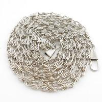 "20pcs/lot 120cm 47"" Silver DIY metal purse handbag bag chains straps belt bag craft accessories"