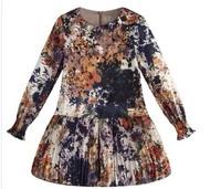 New Arrival 2014 Spring girl's dresses, European and American style children dress, girls flower dress, designer kids clothing