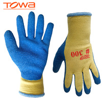 Towa 300 glue natural latex coating safety gloves slip-resistant wear-resistant Anti-puncture