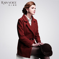 Woolen thickening outerwear medium-long female 2012 female fashion woolen slim