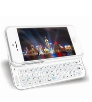 Sliding-out Wireless Bluetooth keyboard with backlight for Apple i Phone5 (white) free shipping