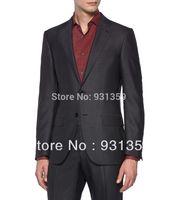 2014 Suit Cool Wool Button, Zip 2 Buttons High re 100% wool Man Suits(Coat+Pants+Vest+Tie+Shirt)ZB147 men's high quality