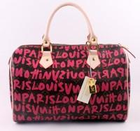 2014 new fashion brand Graffiti Lock women Green red  handbag shoulder bag