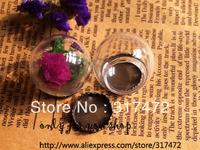 Free Ship!  25mmGlass bulb 15mm bottleneck vial & crown Base set glass bottle glass vials Jewelry pendant DIY