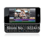 Bluetooth Qwerty Keyboard Sliding Case for iPhone 5/5S - Backlit, Rubberized free shipping