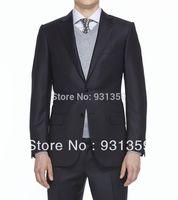 Top Quality Suit Cool Wool Button, Zip 2 Buttons High re 100% wool Man Suits(Coat+Pants+Vest+Tie+Shirt)ZB152 casual men