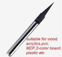3.175 Dia. 10Degree 0.1MM Tip, Flat V Shape CNC Milling Tools, Carbide Carving Cutter, PCB Engraving Bit  10pc/lot-free shipping