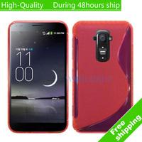 High Quality Soft TPU Gel S line Skin Cover Case For LG G Flex F340 Free Shipping UPS DHL EMS HKPAM CPAM CM-15