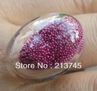 Free ship! 20sets/lot   Glass Bubble & Ring set(20*30mm  don't include the filler)  glass globe vial pendant