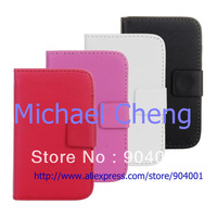 For samsung GALAXY Y S5360 case, PU wallet Leather Case for samsung GALAXY Y S5360 case  with stand card slot