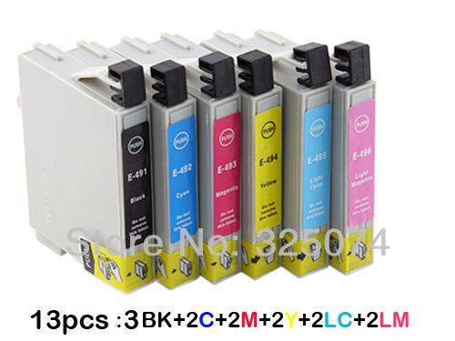 Картридж с чернилами 13 Epson Stylus R210 R230 R310 R350 RX510 RX630 RX650 t0491/t0496 EH13 1 pc 6 color printer head f166000 original printhead for epson stylus r210 r230 r310 r200 r350 print head