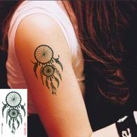 "Waterproof High Quality Temporary Tattoo Sticker "" Indian Dream Catcher "" -6.5*11.5 cm"