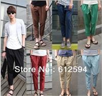 New men summer linen pants plus size harem pants boy london skinny cool elastic original casual loose street sports vintage hip