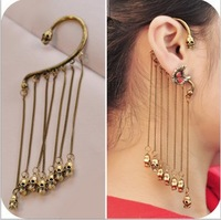 Min order $10 Europe and the United States to restore ancient ways double sided fringe skeleton head hanging ears