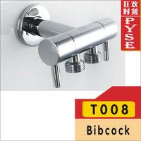 Free shipping T008 brass chrome bibcock brass bibcock shattaf valve