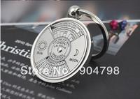 1Pcs Unique Metal Ring Perpetual Calendar Key Chain