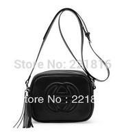 High Quality Genuine Leather Disco Soho Bag Famous Brand Candy Color Tassel Messenger Bag Cross-body Bag Fashion Women's Handbag