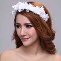 Freeshipping bride White Flower  Princess Boutique Marriage Accessories Wedding Dress Hair Ornament