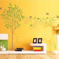 Three generations of photo frame landscape tree large wall stickers wall stickers lm8001