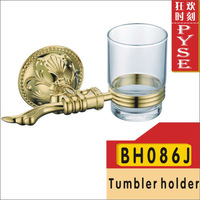 Free shipping BH086J brass gold tumbler holder cup&tumbler holders tumbler toothbrush holder bathroom accessory