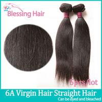 6A Brazilian Unprocessed Virgin Hair Straight Weaves,Rosa Human Hair Weave Straight,Queen Hair Brazilian Straight Hair 5pcs Lot