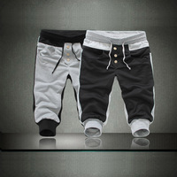 Fashion Casual Sport Rope Men's Short Pants Jogging Trousers Black and Gray Wholesale