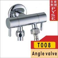 Free shipping T008 brass chrome bibcock, cold tap, washing mashine faucet, toilet bibcock, copper bibcock,tap,garden faucet