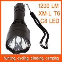 C8 XM-L2 T6 LED Bulb light 1200LM 5 Mode Flashlight Lamps Torch Free Shipping 82807