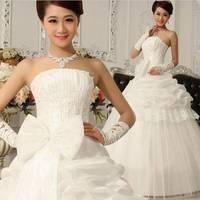 2014 bride wedding elegant sweet princess wedding dress tube top type