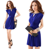 2014 evening dress slim dress short design evening dress beading high waist one-piece dress formal dress