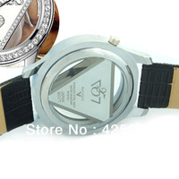 Free shipping GS G Hot Sale Style GU Watch, Fashion Leather Strap Quartz Watch Dial set with Rhinestone Persona bracelet watches