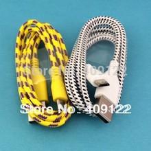cn 5 piezas/micro alambre 1m cable usb 3 pies de nylon tejido sincronización v8 cables cargador para samsung galaxy s3 s4 i9500 i9500 para lg(China (Mainland))