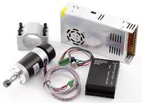 CNC 0.4KW Brushless Spindle Motor ER11 & Mach3 PWM speed controller & Mount +PSU