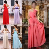 Hot 2014 Womens Chiffon Bridesmaid  Long Fashion Dresses 7 Colors Free Shipping