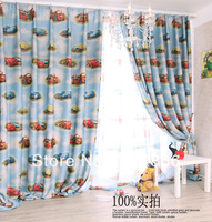 Free shipping finished blackout curtain for kidroom with tulle customized size ready to hang up