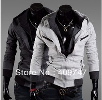 Male han edition cultivate one's morality type more leisure coat a hooded fleece cardigan fleece