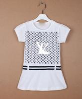 Baby girls dress kids children short sleeve letters dresses 0206 sylvia 1156625535