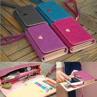 Free Shipping New Womens Fashion Clutch Zipper Leather Long Handbag Lady's Wallet Coin Purse Women messenger bags bolsas