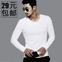2014 male long-sleeve T-shirt male t slim o-neck men's clothing tight top shirt long johns