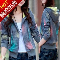 2014 spring autumn and winter plus size clothing all-match cardigan slim sweatshirt thin short jacket