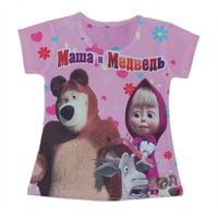 wholesales 2014 new style summer kids T-shirt printed flower girls tee shirts mawa meabeab girls t-shirts(2T-6T) 5pcs/lot