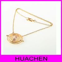 8059  Harry potter time Turner gold necklace time hermione clavicle chain necklace female color hourglass accesories